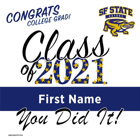 San Francisco State University 24x24 Class of 2020 Yard Sign (Option B)