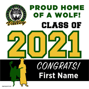 San Ramon Valley High School 24x24 Class of 2021 Yard Sign (Option A)