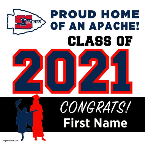 Sanger High School 24x24 Class of 2021 Yard Sign (Option A)