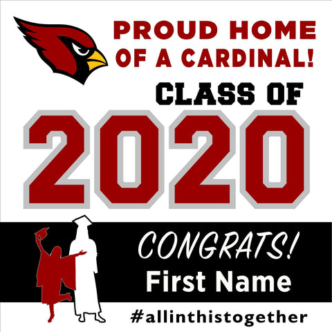 Santa Cruz High School 24x24 Class of 2020 Yard Sign (Option A)