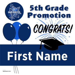 Sartorette Elementary School 5th Grade Promotion 24x24 #shineon2027 Yard Sign (Option A)