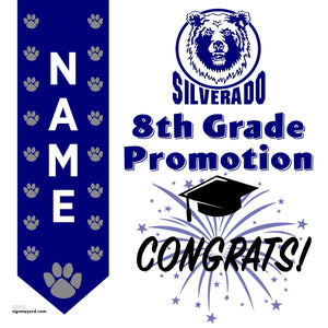 Silverado Middle School 8th Grade Promotion 24x24 #shineon2024 Yard Sign (Option B)