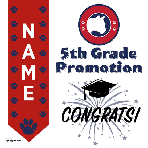 Simonds Elementary School 5th Grade Promotion 24x24 #shineon2027 Yard Sign (Option B)