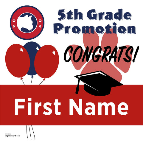 Simonds Elementary School 5th Grade Promotion 24x24 #shineon2027 Yard Sign (Option A)