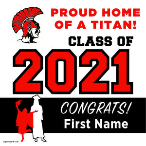 Skyline High School 24x24 Class of 2021 Yard Sign (Option A)