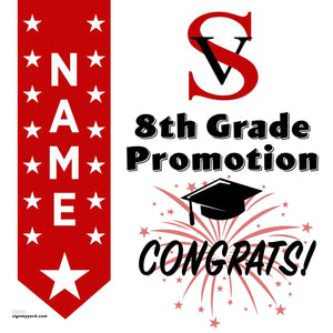 Spring View Middle School 8th Grade Promotion 24x24 #shineon2024 Yard Sign (Option B)
