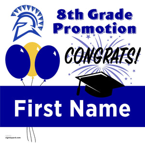 Sunnyvale Middle School 8th Grade Promotion 24x24 #shineon2024 Yard Sign (Option A)