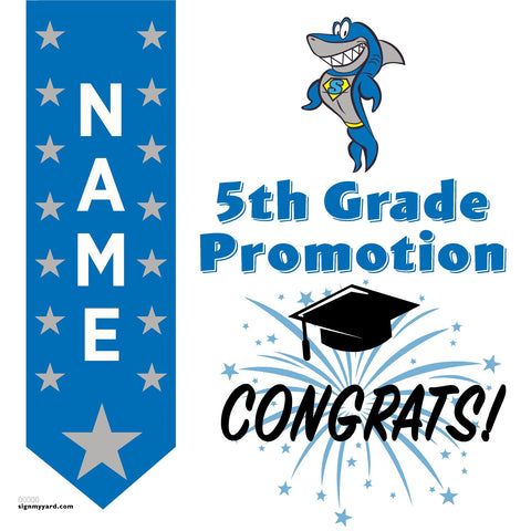 Sycamore Valley Elementary School 5th Grade Promotion 24x24 #shineon2027 Yard Sign (Option B)