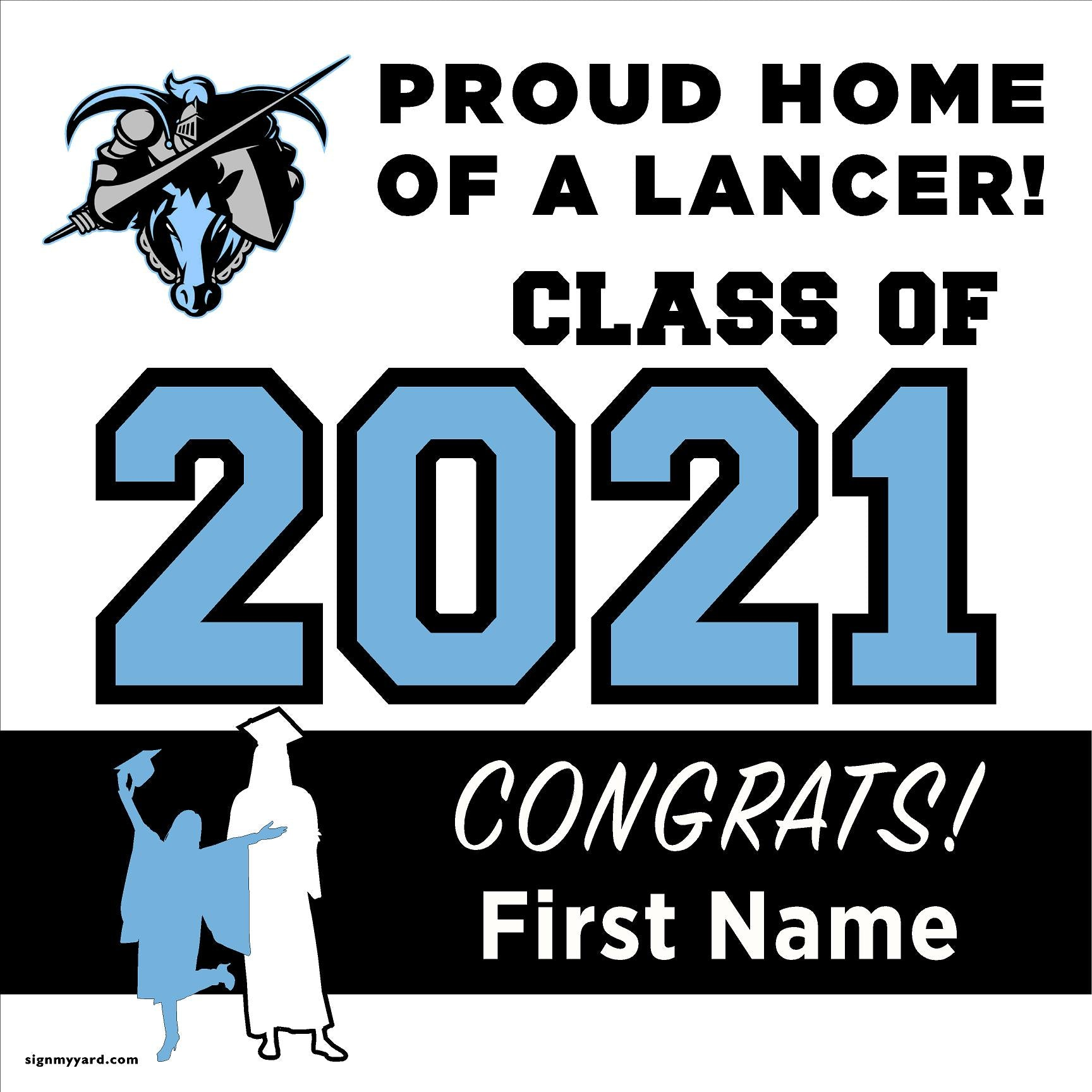 Tennyson High School 24x24 Class of 2021 Yard Sign (Option A)