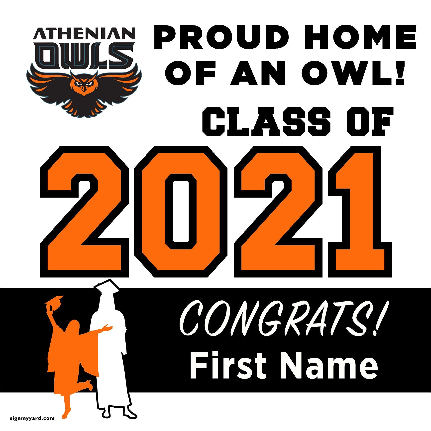 The Athenian School 24x24 Class of 2021 Yard Sign (Option A)