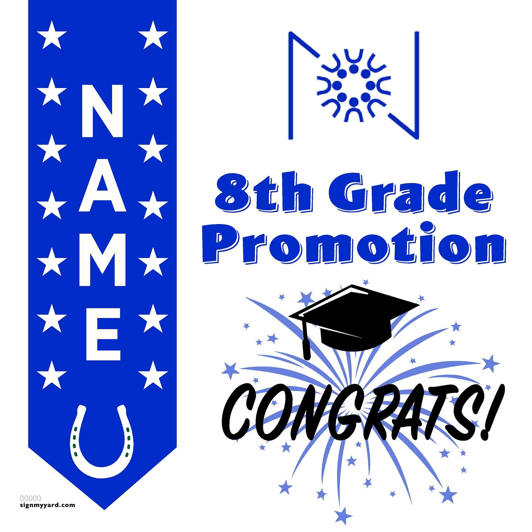 The Nueva Middle School 8th Grade Promotion 24x24 #shineon2024 Yard Sign (Option B)
