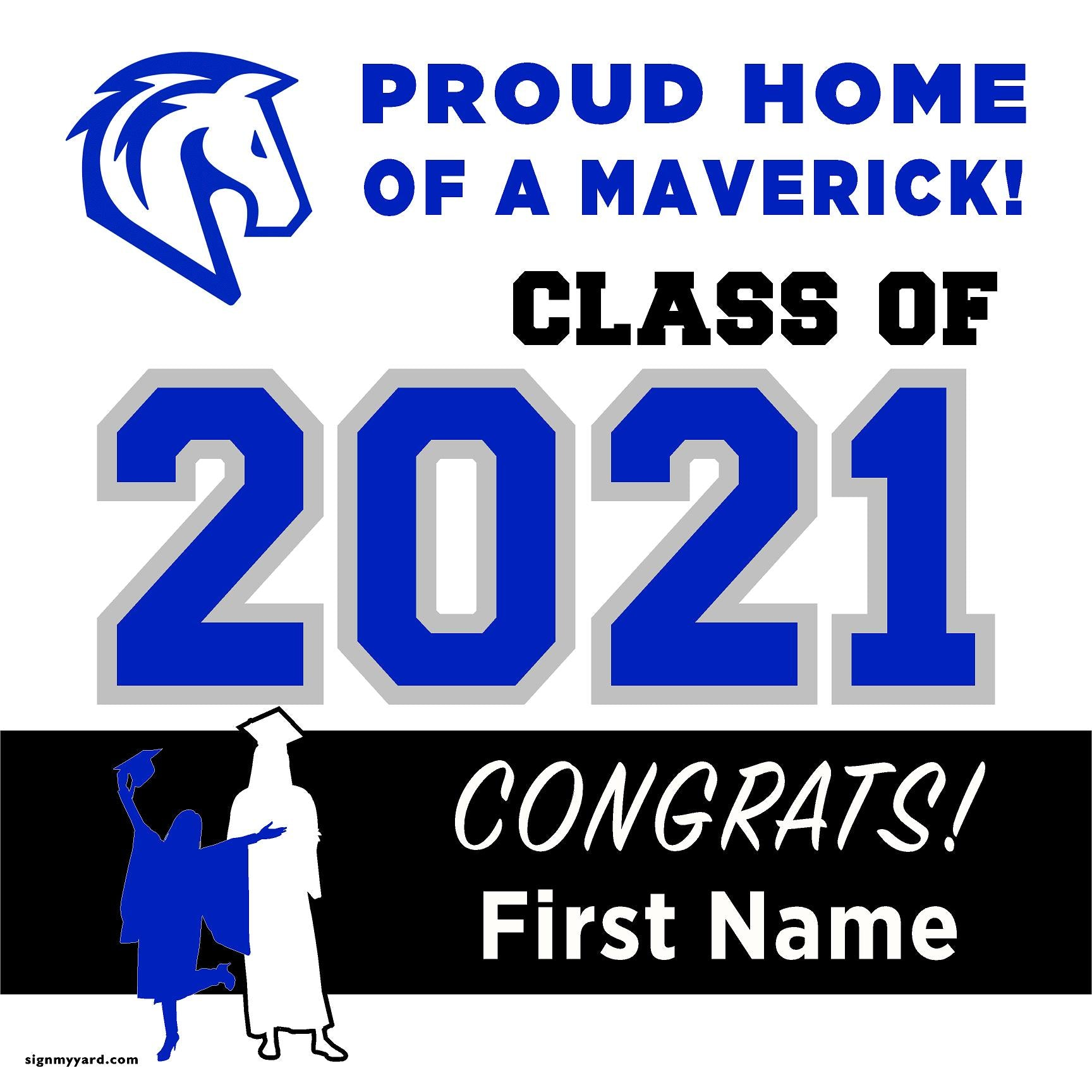 The Nueva School San Mateo San Mateo 24x24 Class of 2021 Yard Sign (Option A)