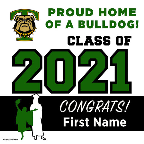 Tracy High School 24x24 Class of 2021 Yard Sign (Option A)