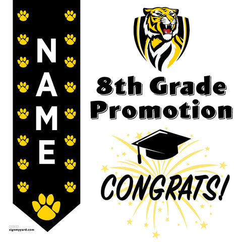 Turlock Jr. High 8th Grade Promotion 24x24 #shineon2024 Yard Sign (Option B)