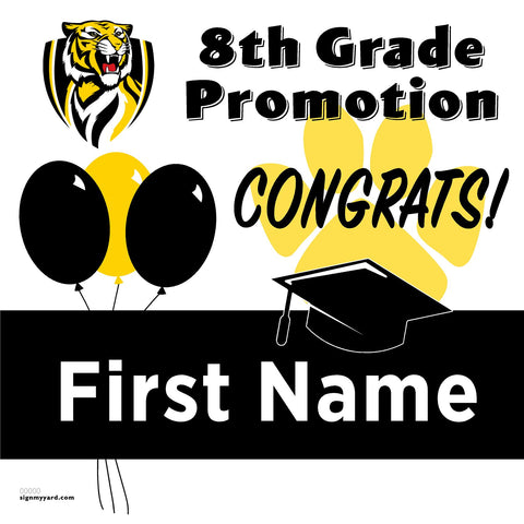 Turlock Jr. High 8th Grade Promotion 24x24 #shineon2024 Yard Sign (Option A)
