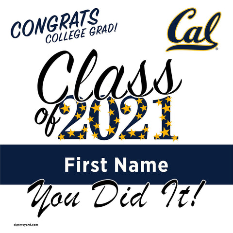 UC Berkeley 24x24 Class of 2021 Yard Sign (Option B)