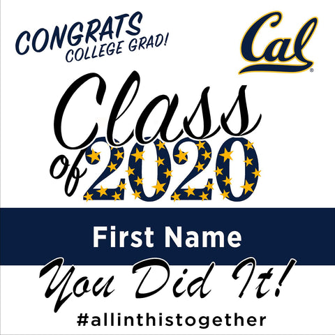 UC Berkeley University 24x24 Class of 2020 Yard Sign (Option B)
