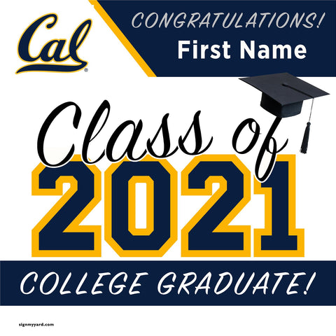 UC Berkeley 24x24 Class of 2021 Yard Sign (Option A)