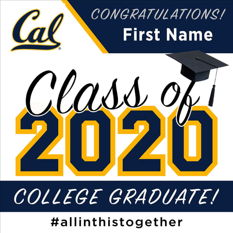 UC Berkeley University 24x24 Class of 2020 Yard Sign (Option A)