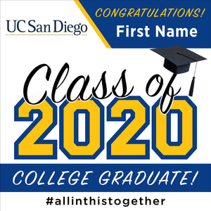 UC San Diego University 24x24 Class of 2020 Yard Sign (Option A)