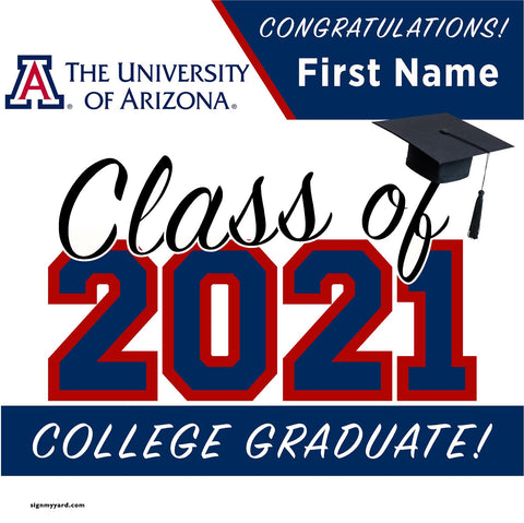 University of Arizona 24x24 Class of 2020 Yard Sign (Option A)