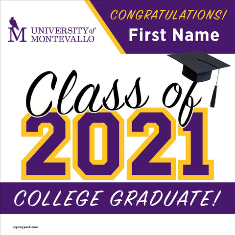 University of Montevallo 24x24 Class of 2021 Yard Sign (Option A)