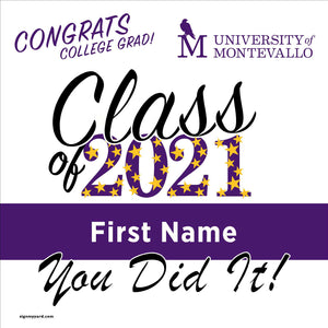 University of Montevallo 24x24 Class of 2021 Yard Sign (Option B)