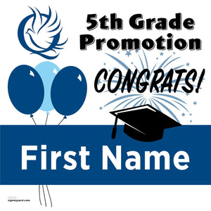 Valley Christian Elementary School San Jose 5th Grade Promotion 24x24 Yard Sign (Option A)