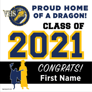 Valley High Continuation School 24x24 Class of 2021 Yard Sign (Option A)