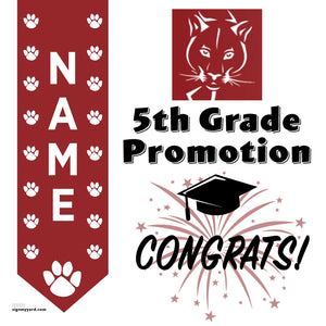 Vannoy Elementary School 5th Grade Promotion 24x24 #shineon2027 Yard Sign (Option B)