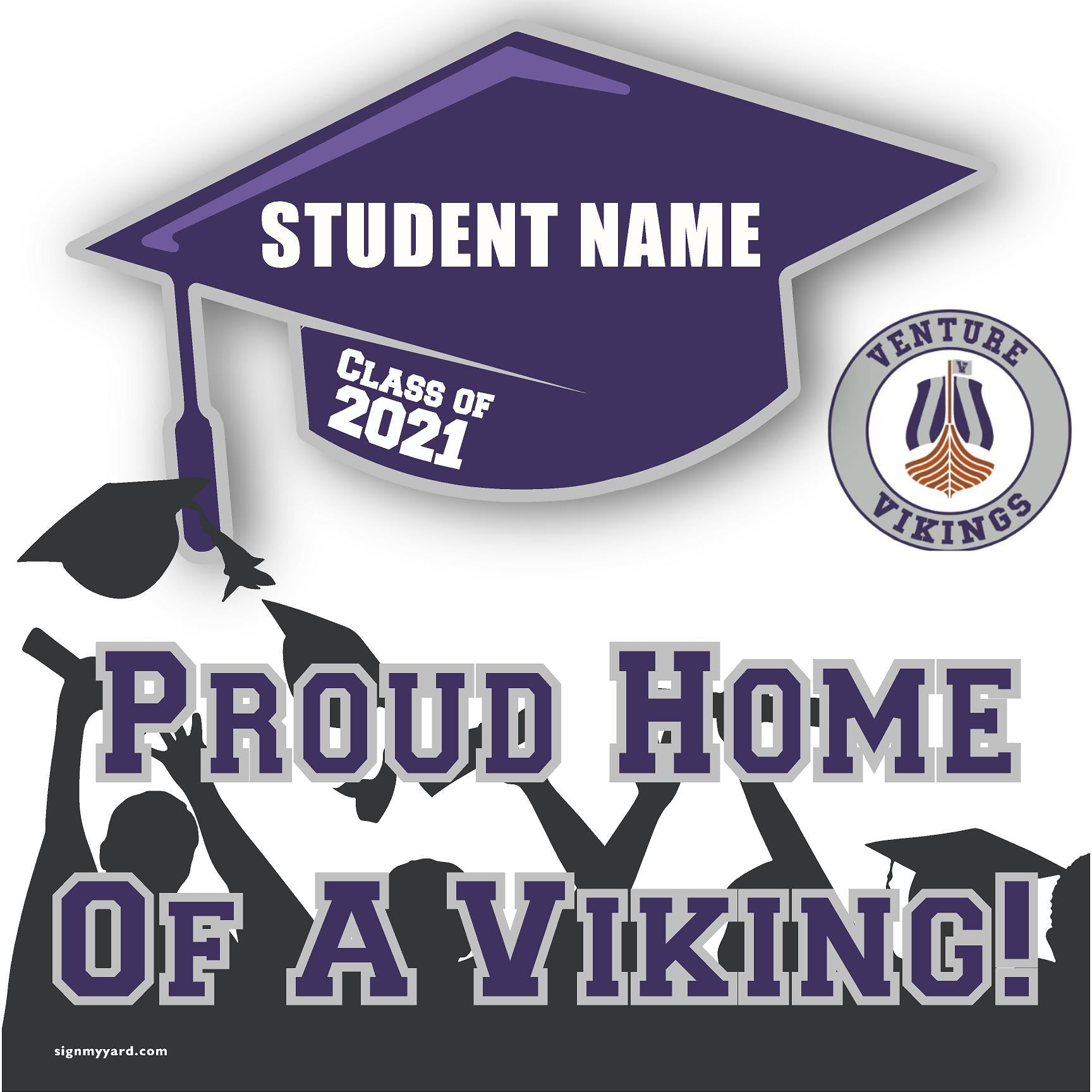 Venture Independent Study School 24x24 Class of 2021 Yard Sign (Option B)