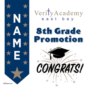 Verity Academy School 8th Grade Promotion 24x24 Yard Sign (Option B)