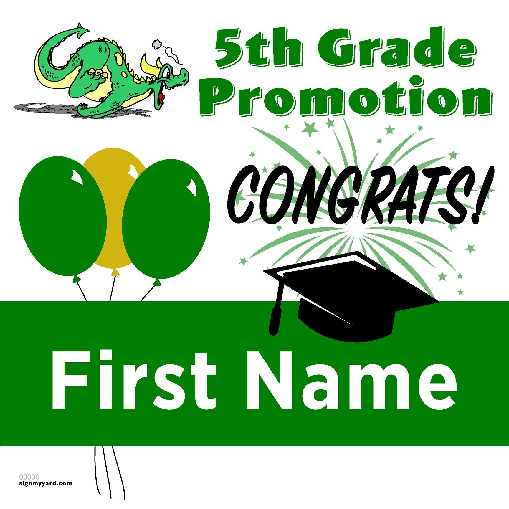 Vintage Hills Elementray School 5th Grade Promotion 24x24 #shineon2027 Yard Sign (Option A)