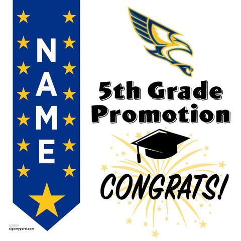 Vista Grande Elementary 5th Grade Promotion 24x24 #shineon2027 Yard Sign (Option B)