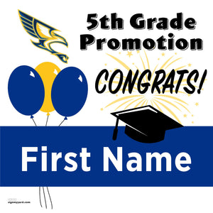 Vista Grande Elementary 5th Grade Promotion 24x24 #shineon2027 Yard Sign (Option A)