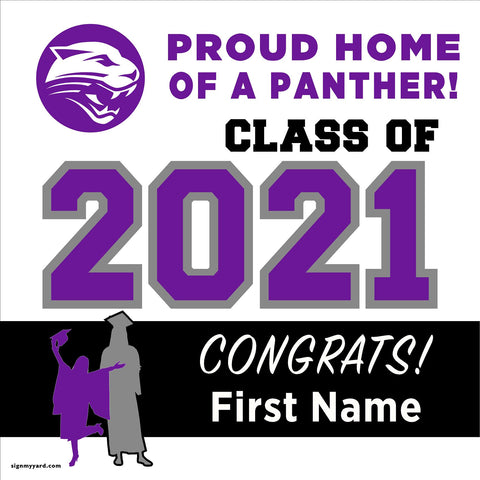Washington Union High School 24x24 Class of 2021 Yard Sign (Option A)
