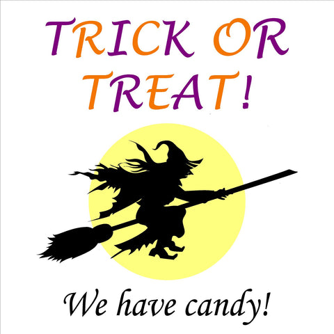 24x24 Halloween Yard Sign with Stake Option B (Includes installation in our coverage area)