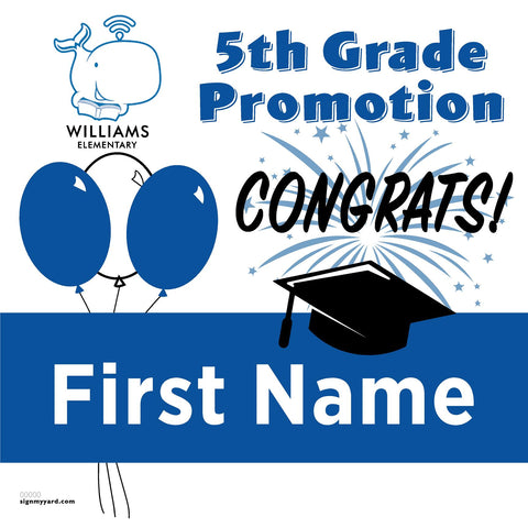 Williams Elementary School 5th Grade Promotion 24x24 #shineon2027 Yard Sign (Option A)