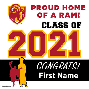 Willow Glen High School 24x24 Class of 2021 Yard Sign (Option A)