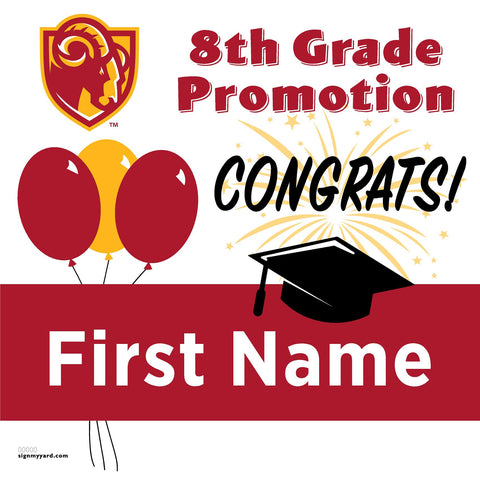 Willow Glen Middle School 8th Grade Promotion 24x24 #shineon2024 Yard Sign (Option A)