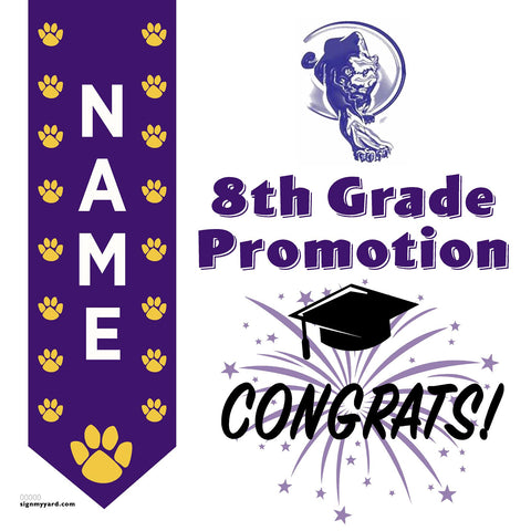 Yolo Middle School 8th Grade Promotion 24x24 #shineon2024 Yard Sign (Option B)