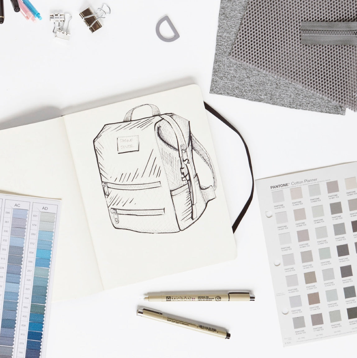 Our Materials Diaper Bag Sketch
