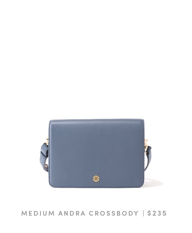 Medium Andra Crossbody Ash Blue