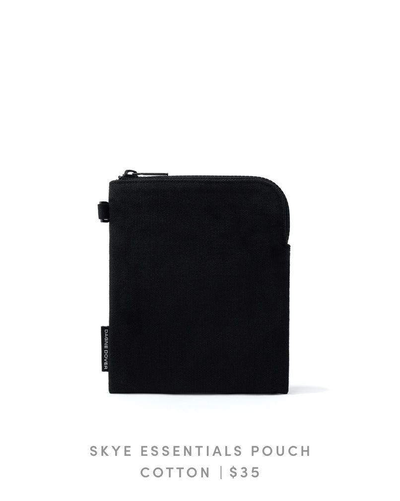 Skye Essentials Pouch Cotton - Onyx