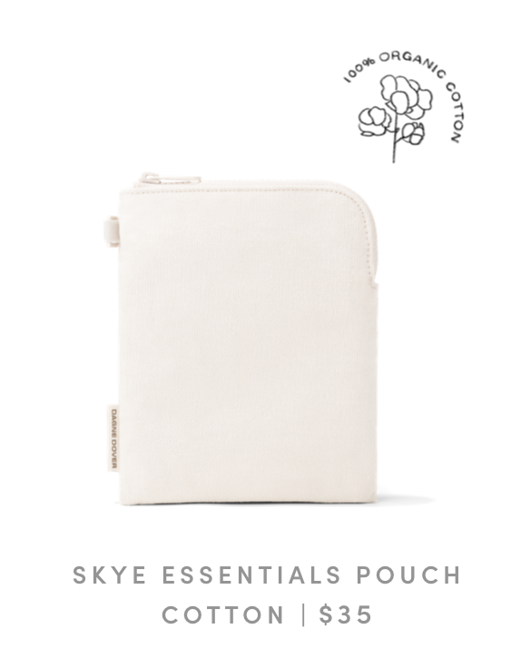 Skye Essentials Pouch in Natural Organic Cotton