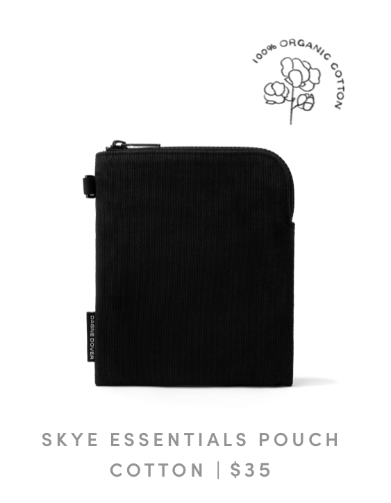 Skye Essentials Pouch in Onyx Organic Cotton