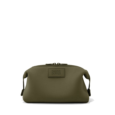 Hunter Toiletry Bag in Dark Moss, Large