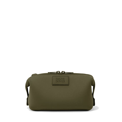 Hunter Toiletry Bag in Dark Moss, Small
