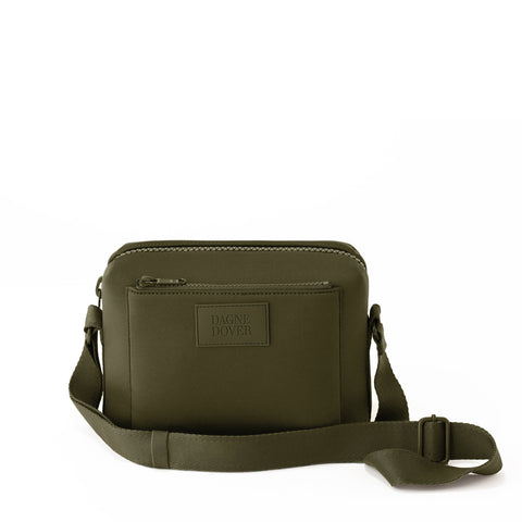 Micah Crossbody in Dark Moss