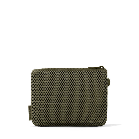 Parker Airmesh Pouch in Dark Moss, Small